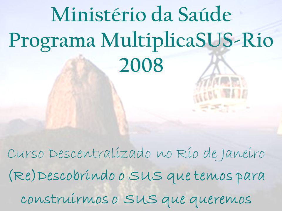 Ministério da Saúde Programa MultiplicaSUS-Rio 2008