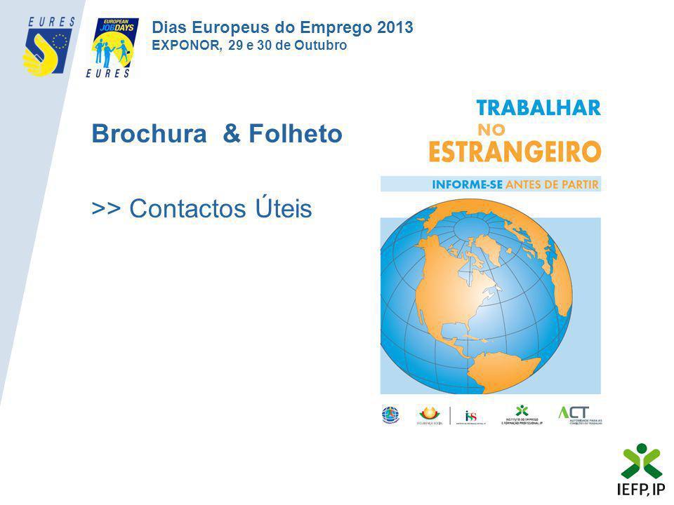 Brochura & Folheto >> Contactos Úteis