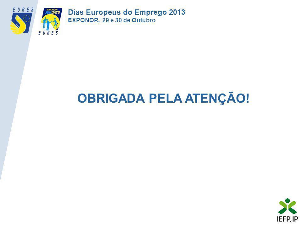 OBRIGADA PELA ATENÇÃO! Dias Europeus do Emprego 2013