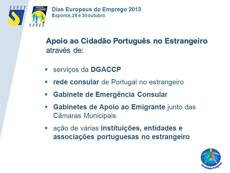 Apoio ao Cidadão Português no Estrangeiro através de: