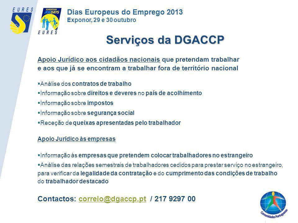 Serviços da DGACCP Dias Europeus do Emprego 2013