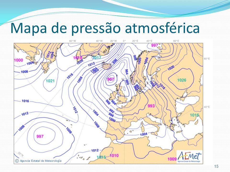 Mapa de pressão atmosférica