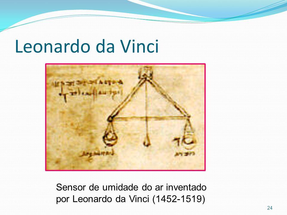 Leonardo da Vinci Sensor de umidade do ar inventado por Leonardo da Vinci (1452-1519)