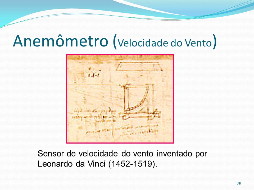 Anemômetro (Velocidade do Vento)