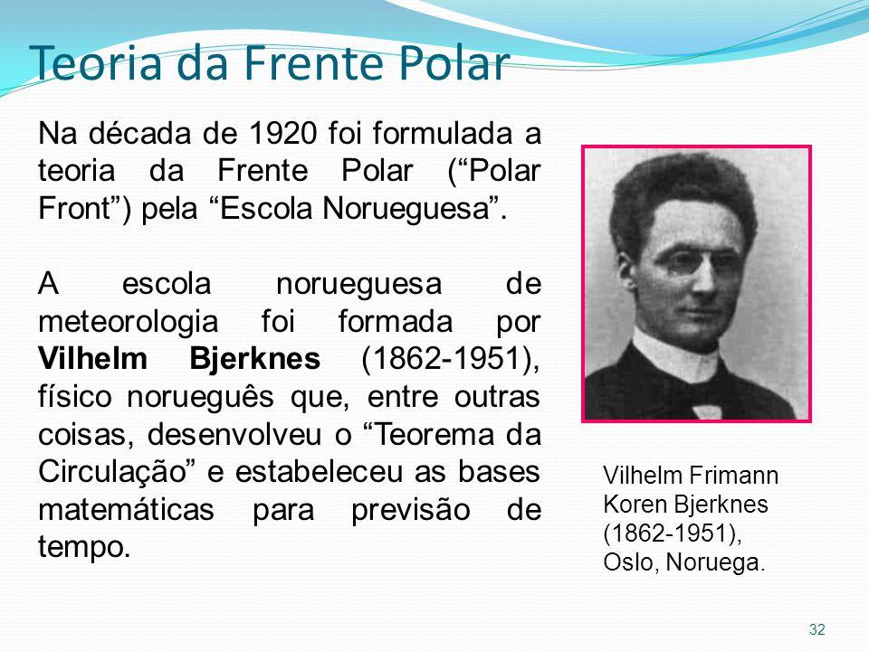 Teoria da Frente Polar Na década de 1920 foi formulada a teoria da Frente Polar ( Polar Front ) pela Escola Norueguesa .
