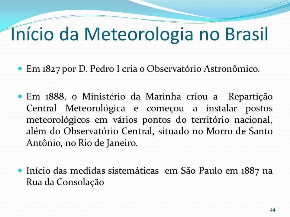 Início da Meteorologia no Brasil