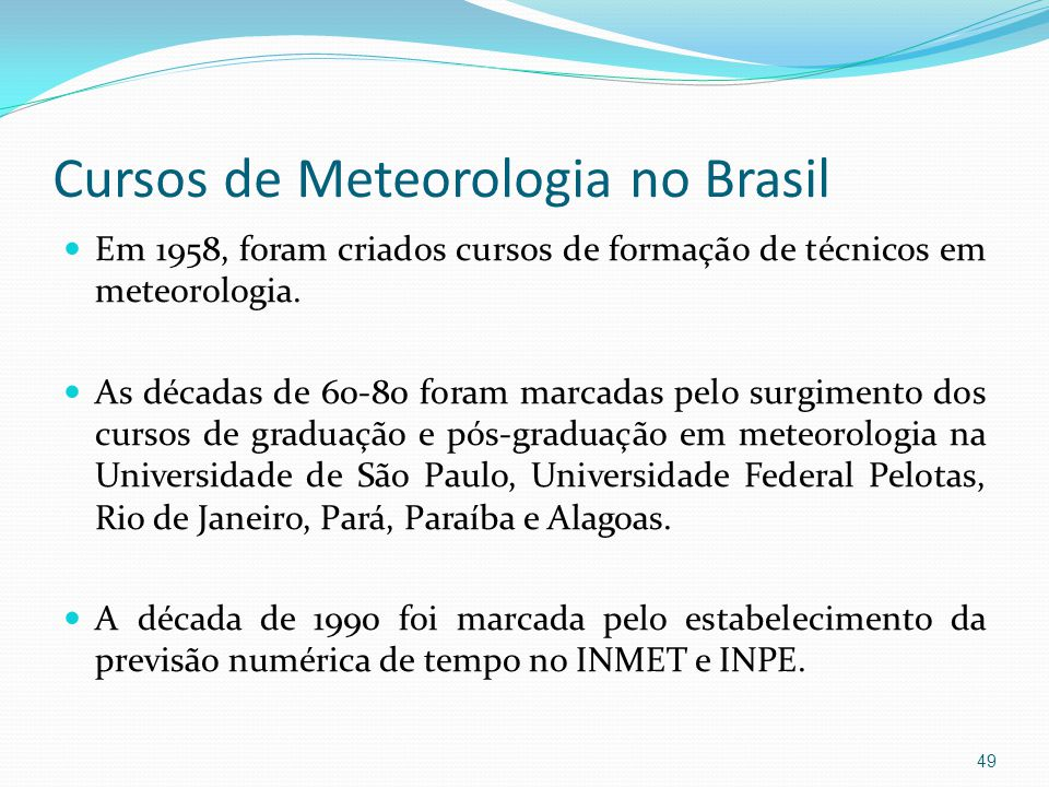 Cursos de Meteorologia no Brasil