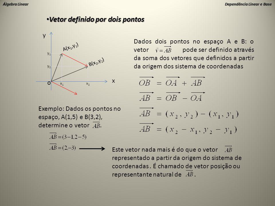 Vetor definido por dois pontos