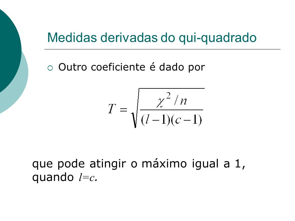 Medidas derivadas do qui-quadrado