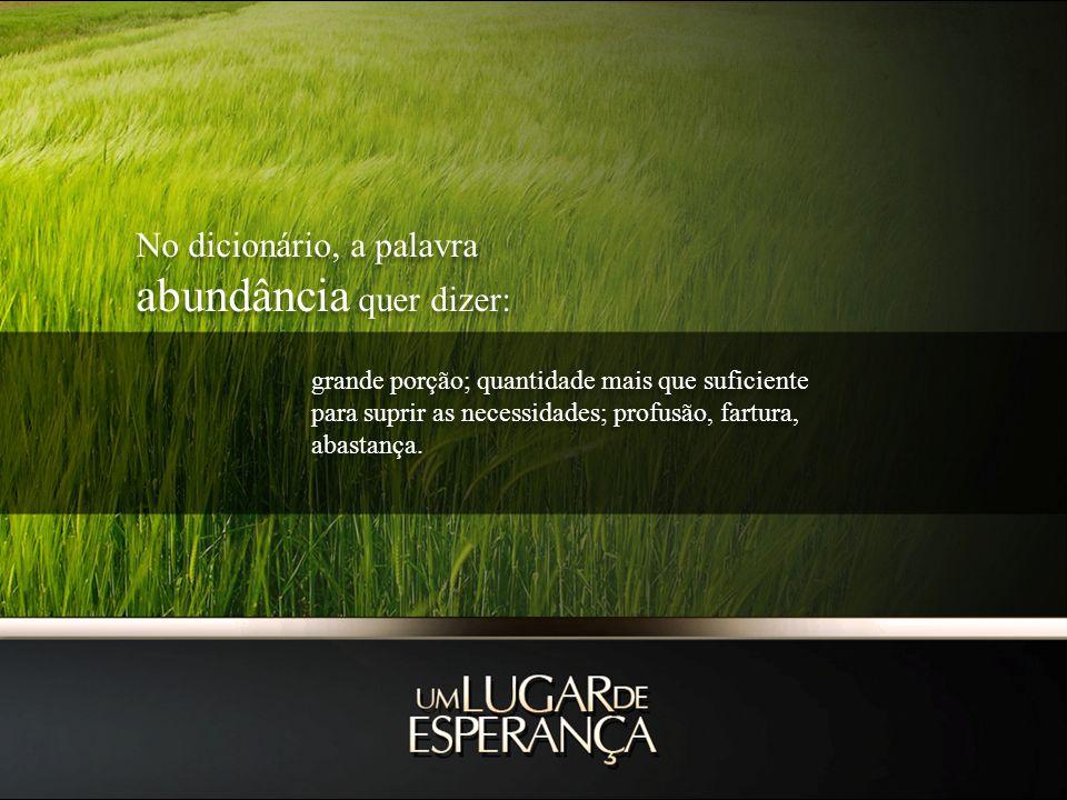 abundância quer dizer: