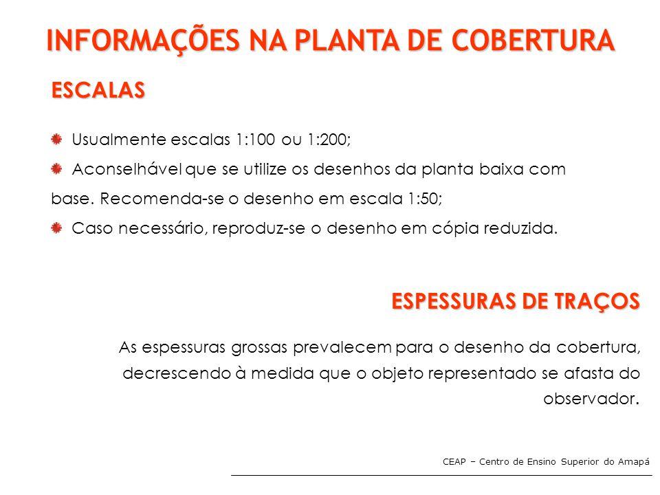 INFORMAÇÕES NA PLANTA DE COBERTURA