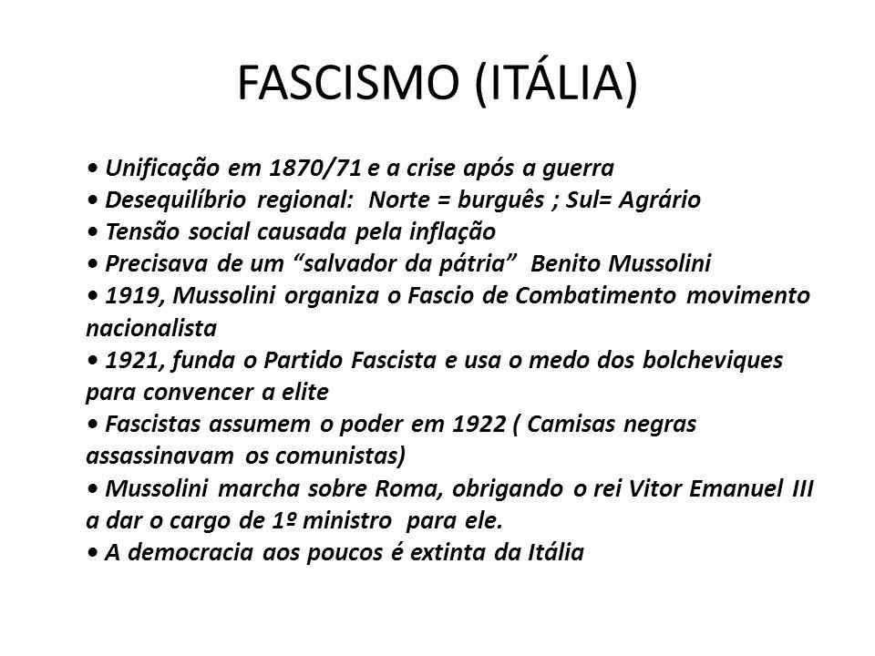 FASCISMO (ITÁLIA)