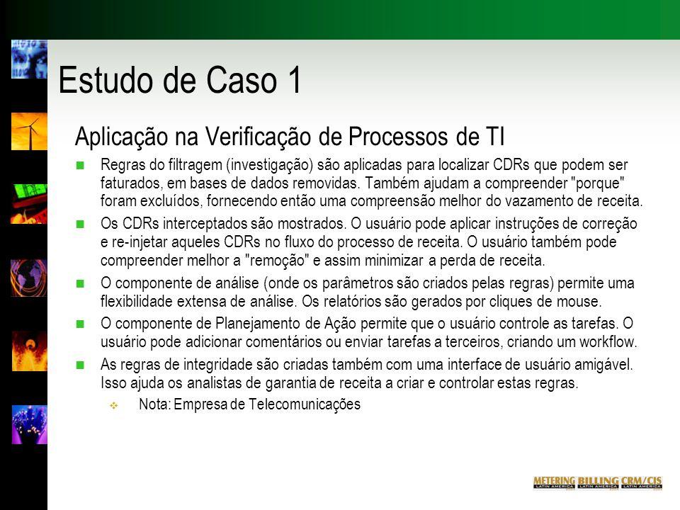 Estudo de Caso 1 Aplicação na Verificação de Processos de TI