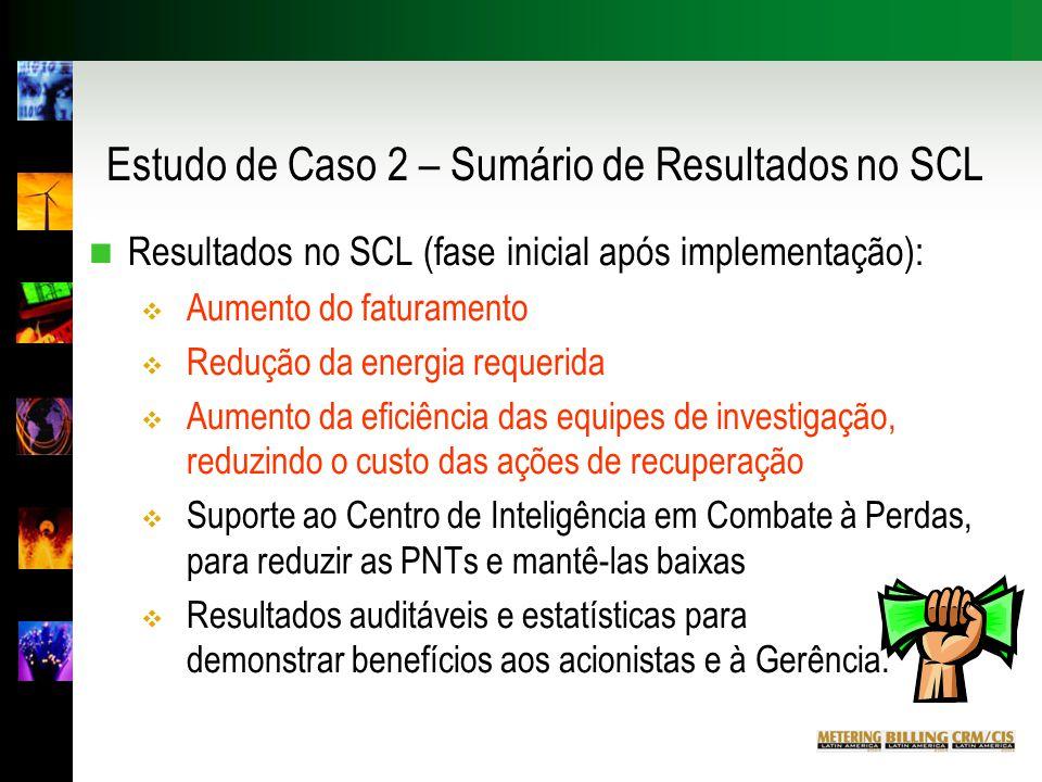 Estudo de Caso 2 – Sumário de Resultados no SCL
