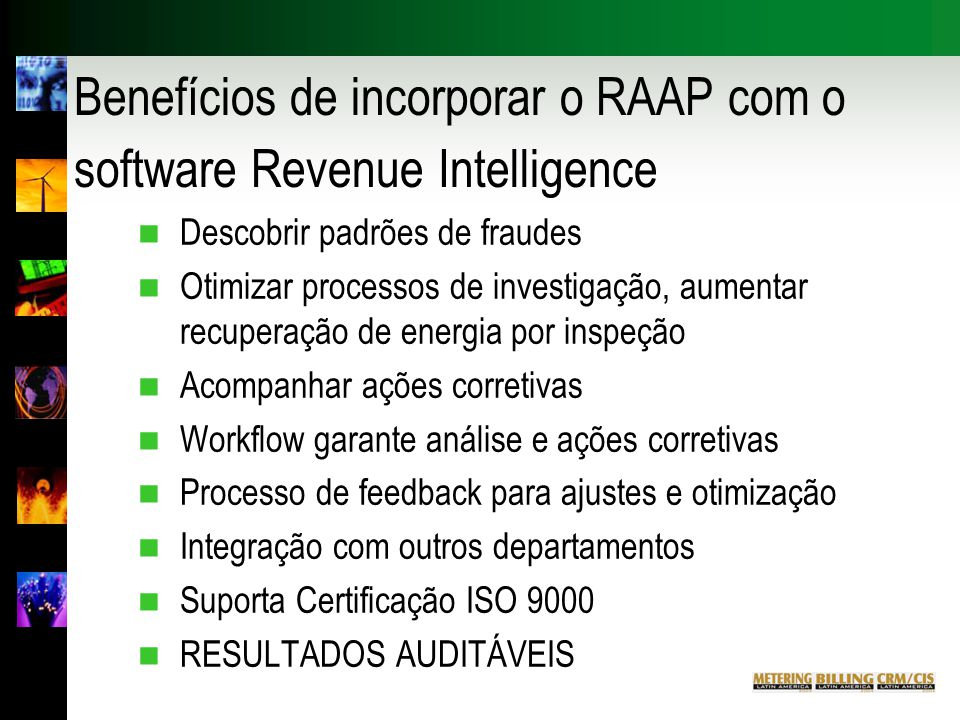 Benefícios de incorporar o RAAP com o software Revenue Intelligence