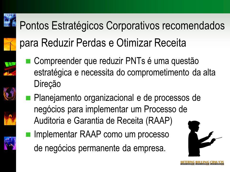 Pontos Estratégicos Corporativos recomendados para Reduzir Perdas e Otimizar Receita