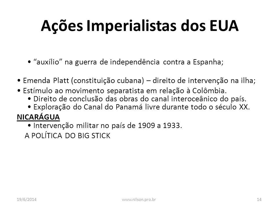 Ações Imperialistas dos EUA