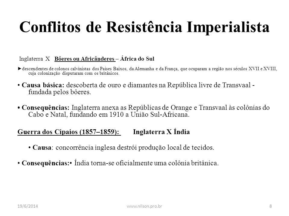 Conflitos de Resistência Imperialista