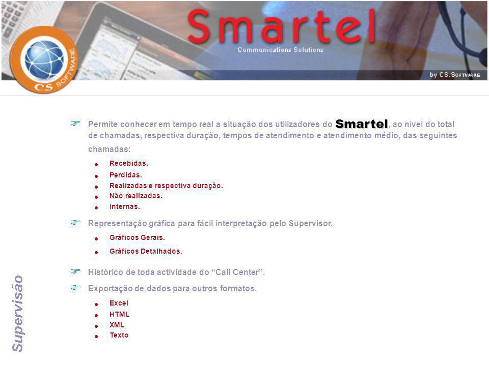 Permite conhecer em tempo real a situação dos utilizadores do Smartel, ao nível do total de chamadas, respectiva duração, tempos de atendimento e atendimento médio, das seguintes chamadas: