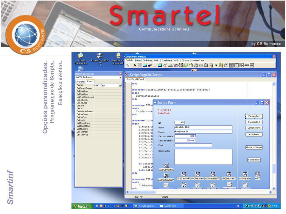 Smartinf Opções personalizadas. Programação de Scripts.