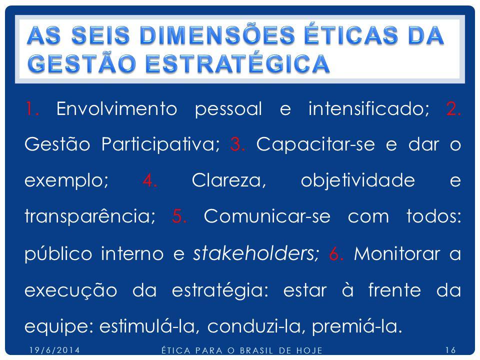 AS SEIS DIMENSÕES ÉTICAS DA GESTÃO ESTRATÉGICA