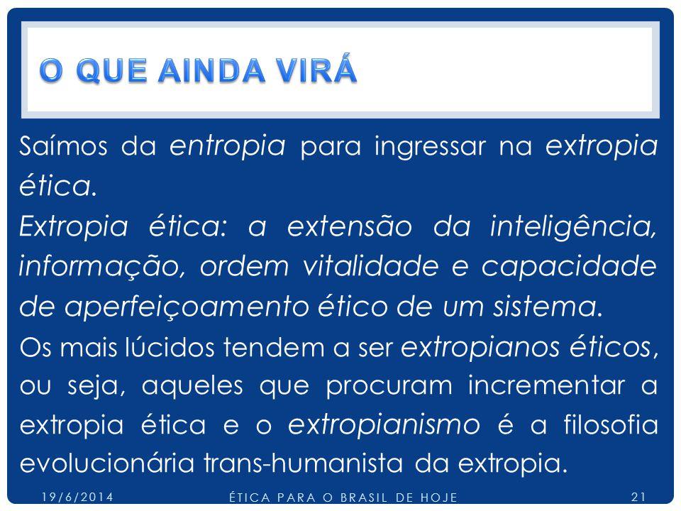 ÉTICA PARA O BRASIL DE HOJE
