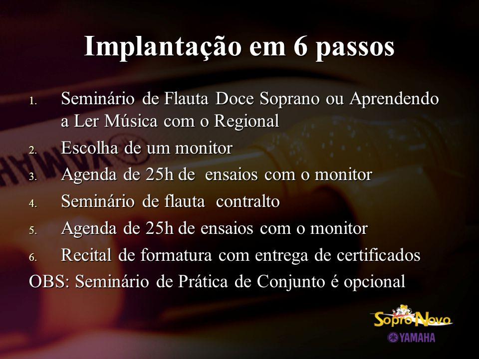 Implantação em 6 passos Seminário de Flauta Doce Soprano ou Aprendendo a Ler Música com o Regional.