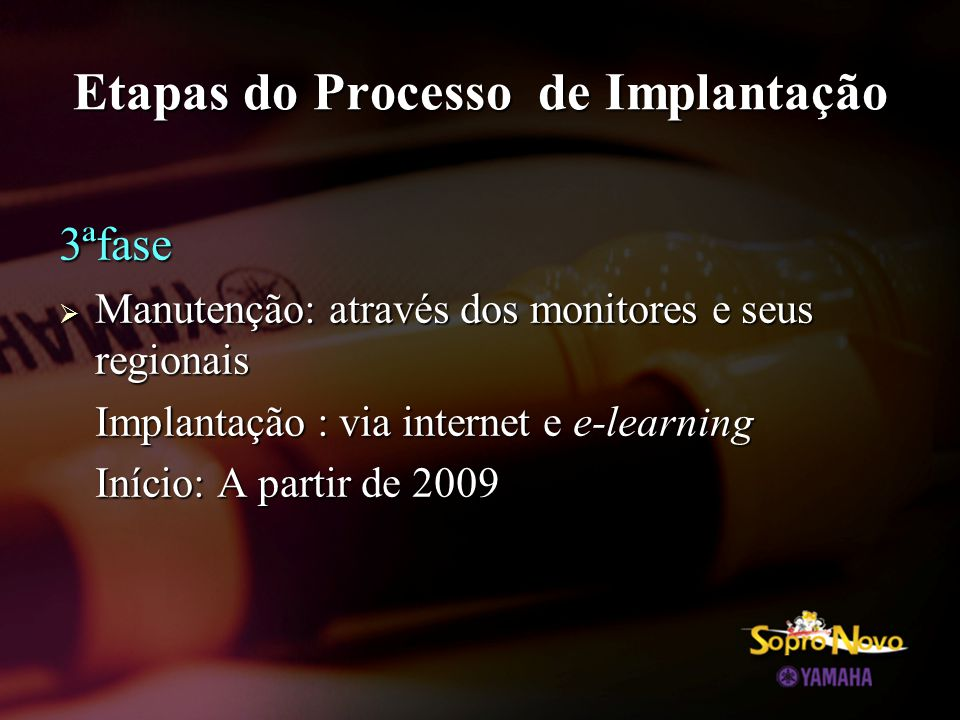 Etapas do Processo de Implantação