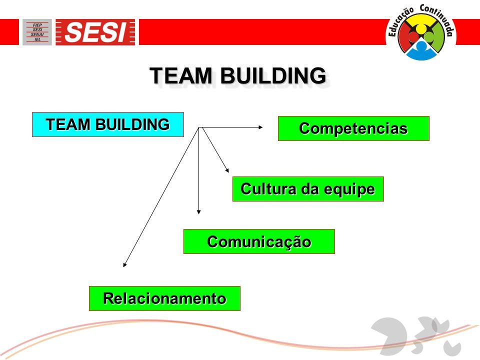 TEAM BUILDING TEAM BUILDING Competencias Cultura da equipe Comunicação