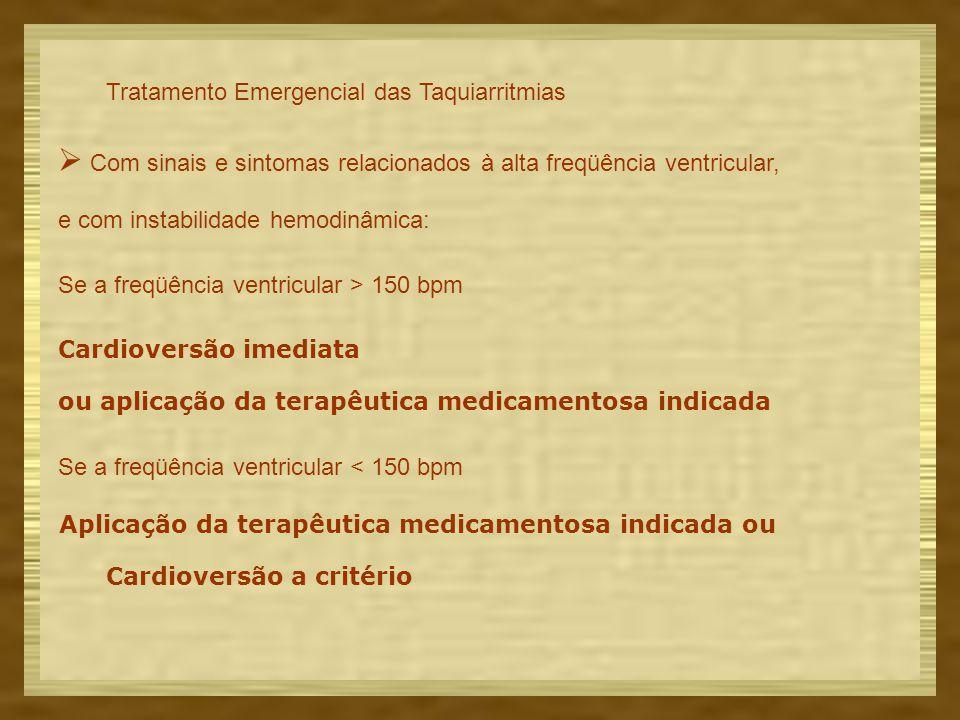 Tratamento Emergencial das Taquiarritmias
