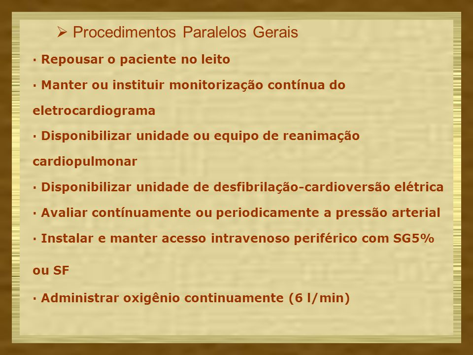  Procedimentos Paralelos Gerais