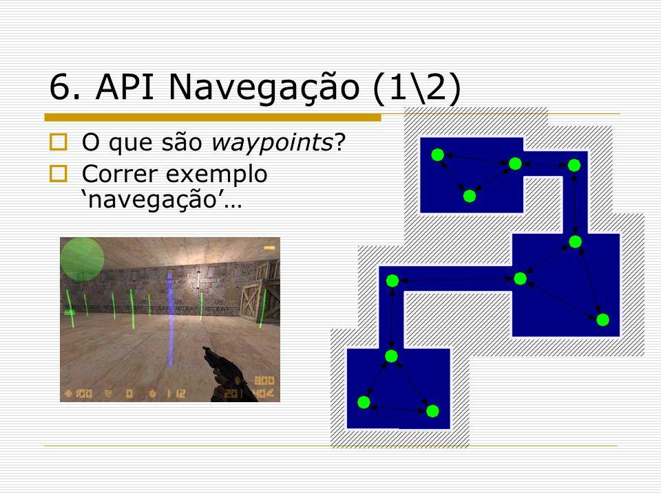 6. API Navegação (1\2) O que são waypoints