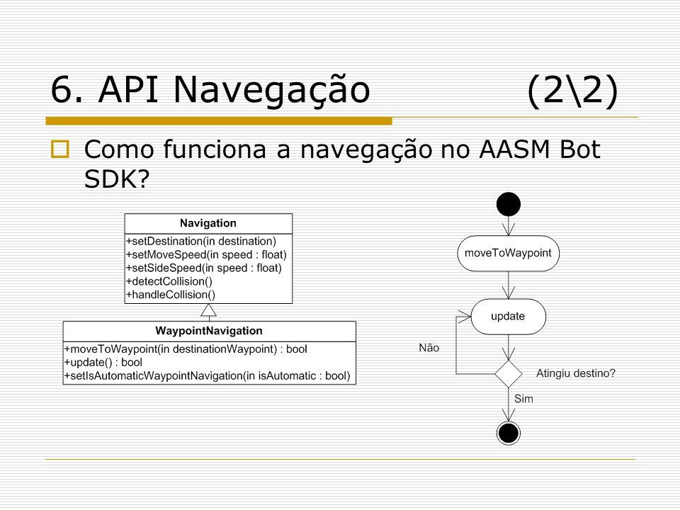 6. API Navegação (2\2) Como funciona a navegação no AASM Bot SDK