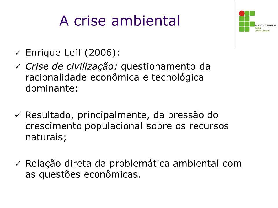 A crise ambiental Enrique Leff (2006):