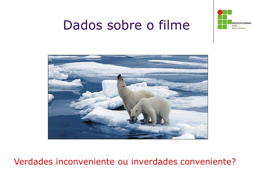 Dados sobre o filme Verdades inconveniente ou inverdades conveniente