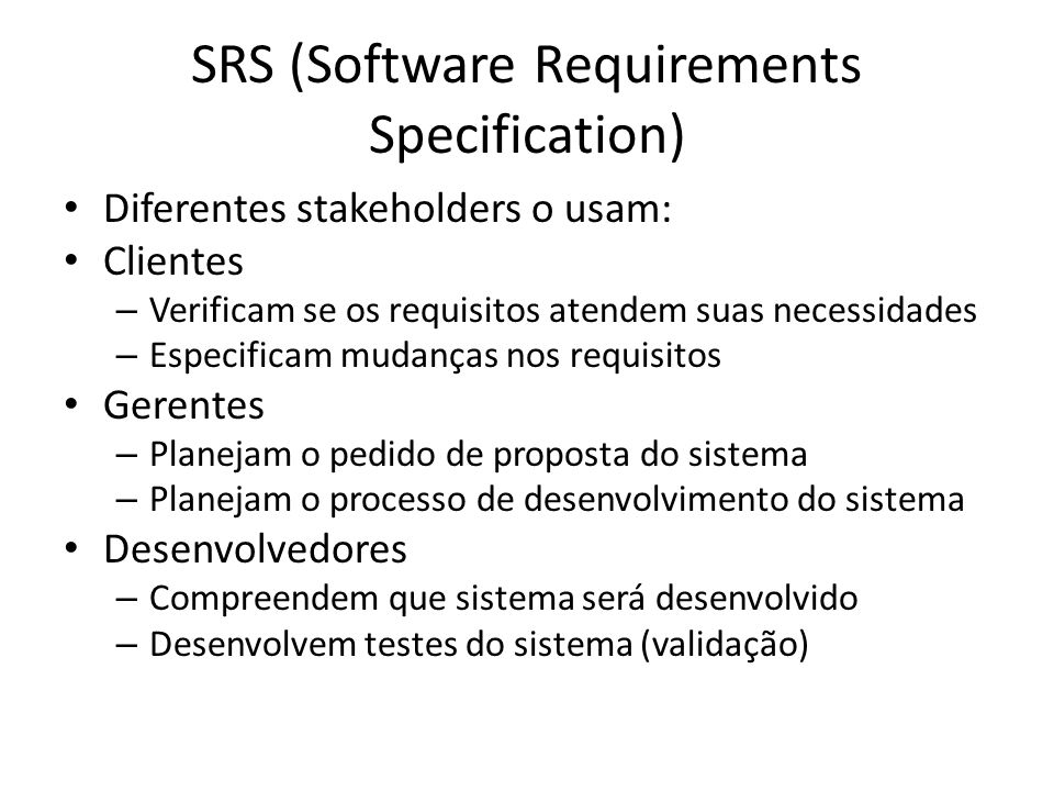 SRS (Software Requirements Specification)