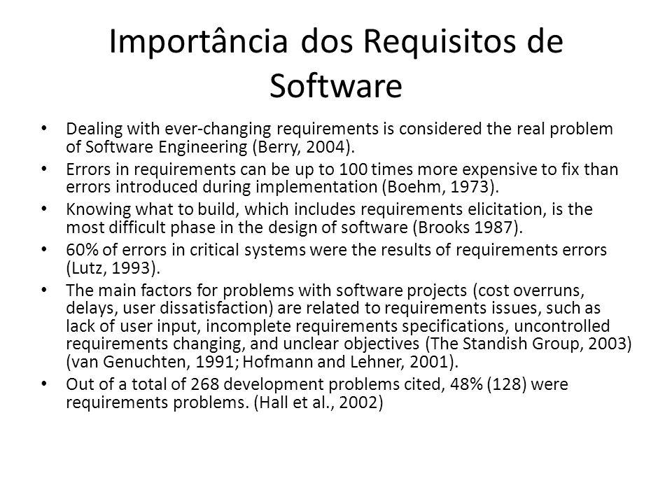 Importância dos Requisitos de Software