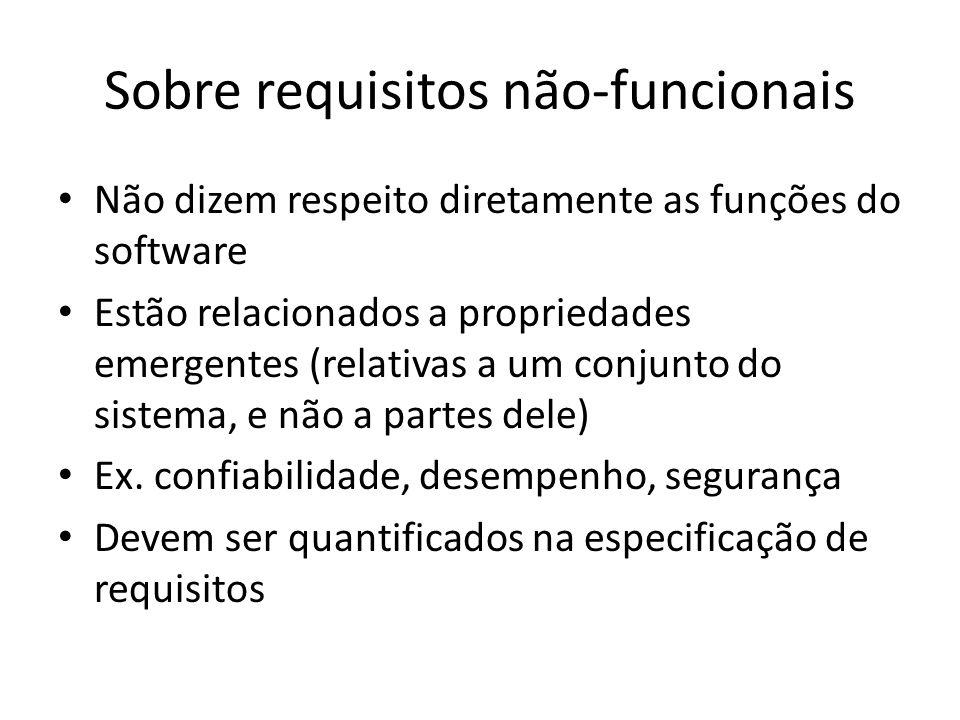 Sobre requisitos não-funcionais