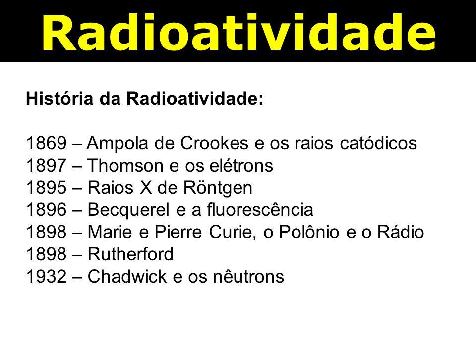 Radioatividade História da Radioatividade: