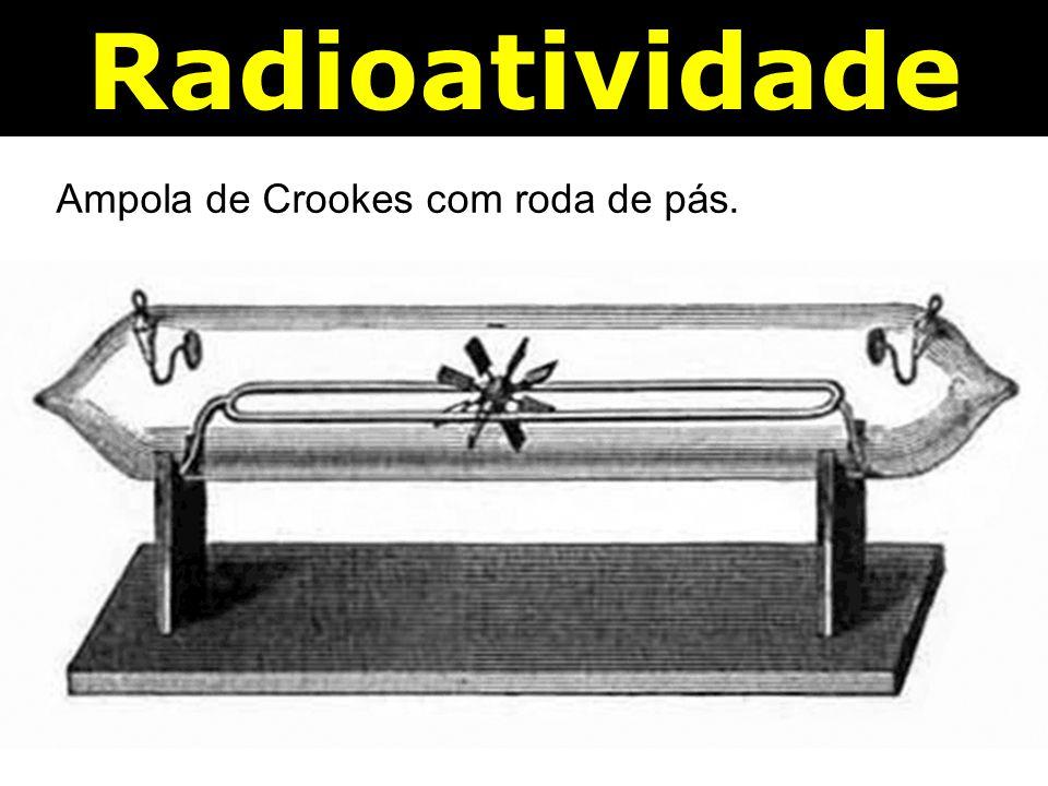 Radioatividade Ampola de Crookes com roda de pás.