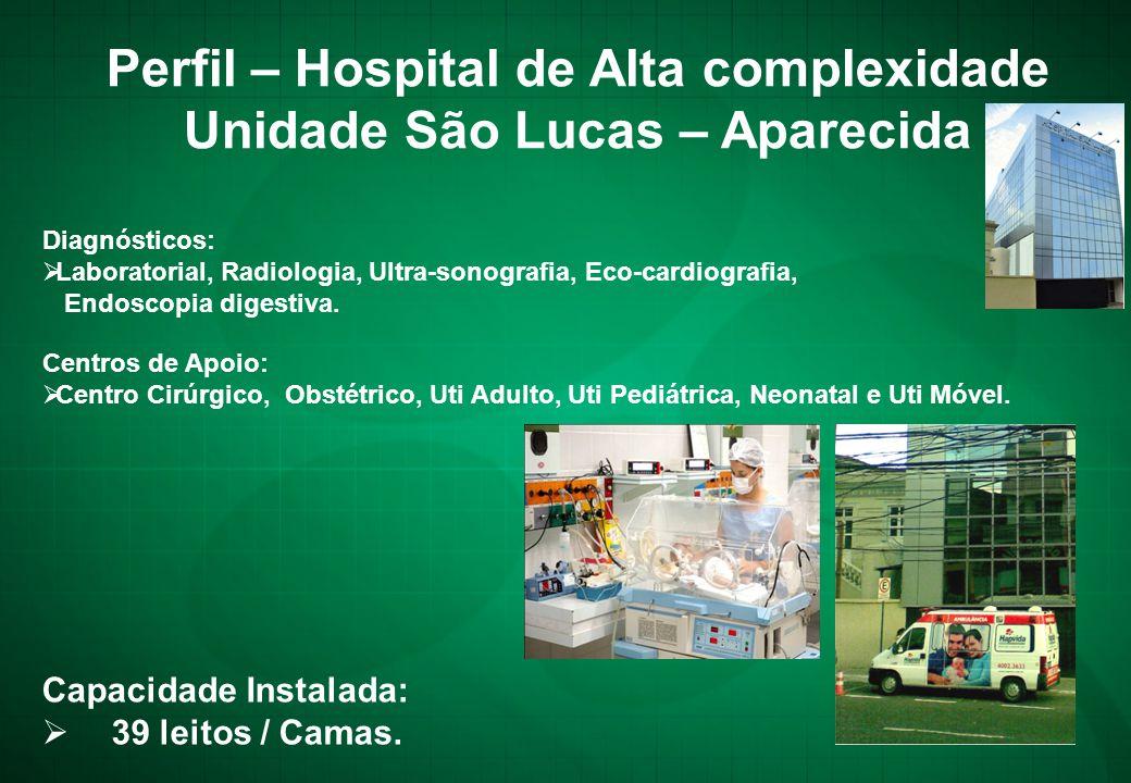 Perfil – Hospital de Alta complexidade Unidade São Lucas – Aparecida