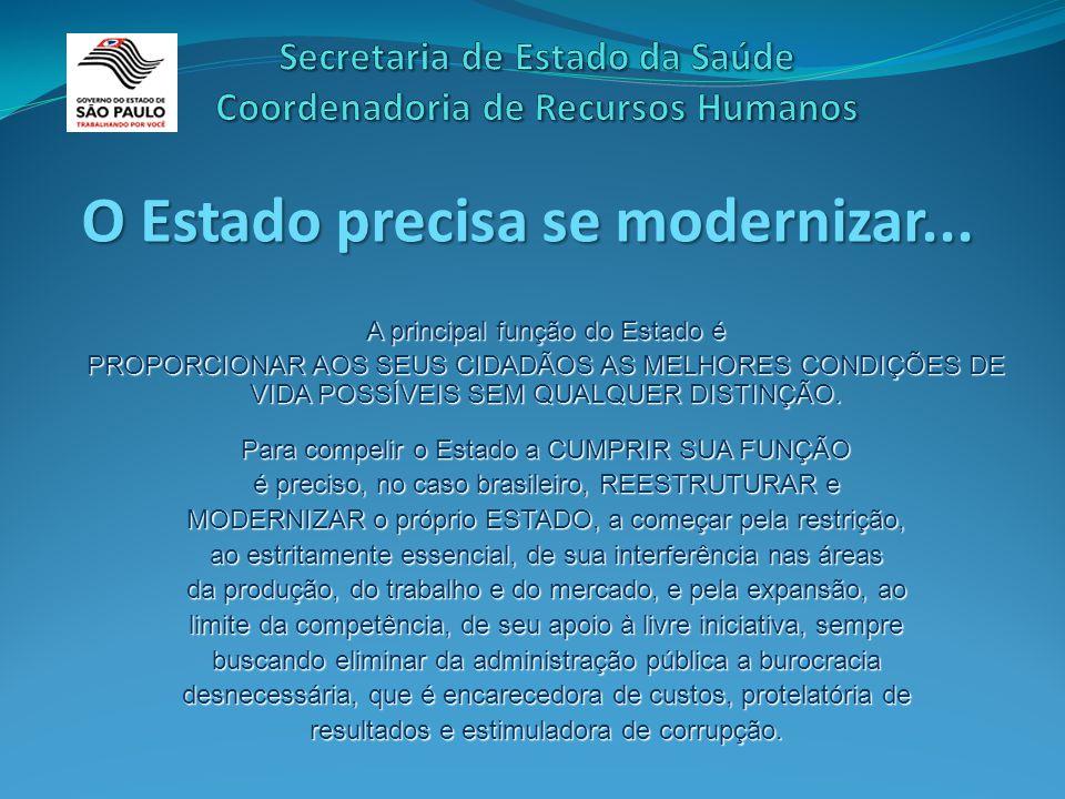 O Estado precisa se modernizar...
