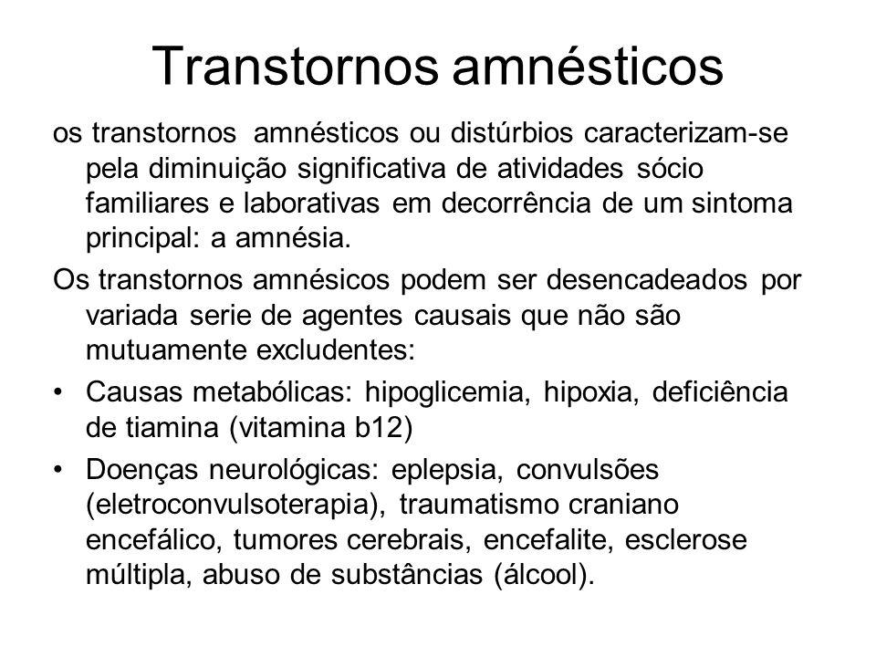 Transtornos amnésticos