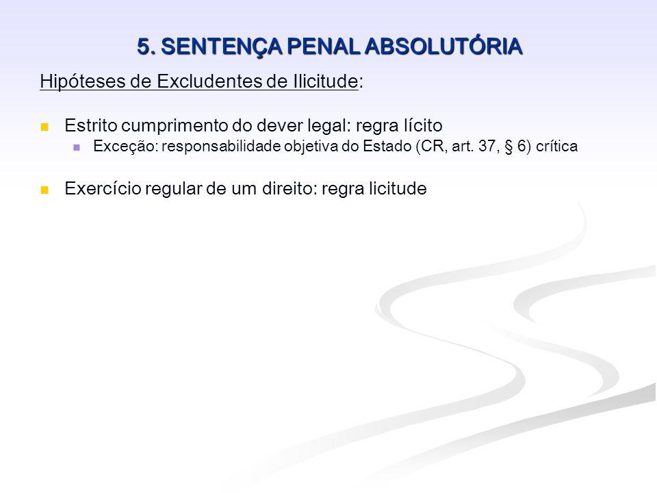 5. SENTENÇA PENAL ABSOLUTÓRIA