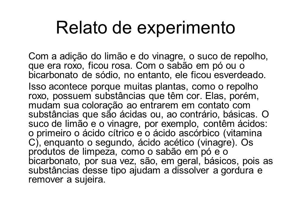 Relato de experimento