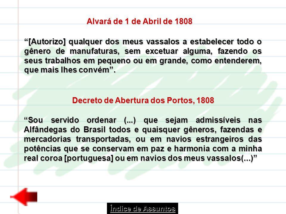Decreto de Abertura dos Portos, 1808