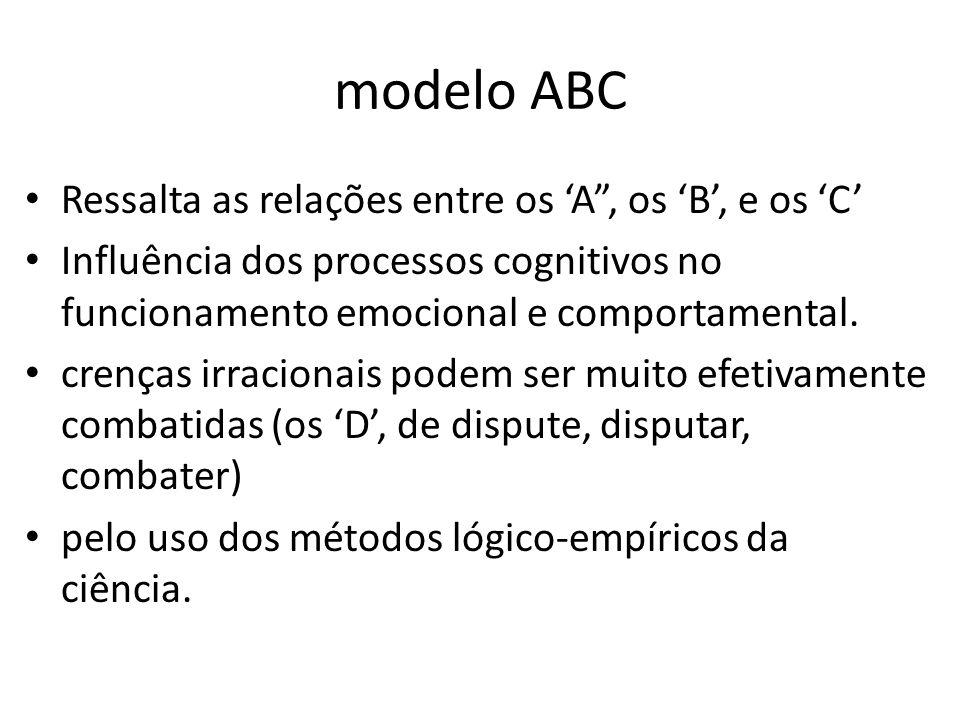 modelo ABC Ressalta as relações entre os 'A , os 'B', e os 'C'