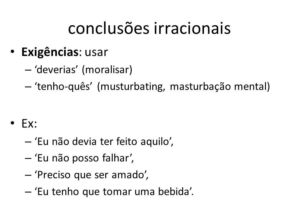 conclusões irracionais