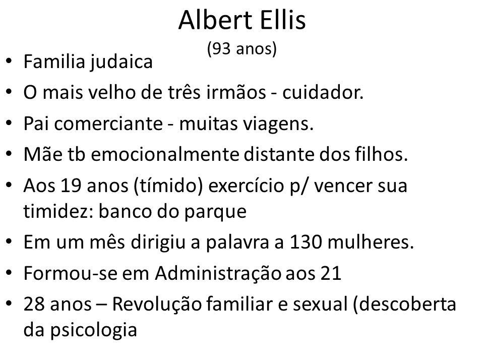 Albert Ellis (93 anos) Familia judaica