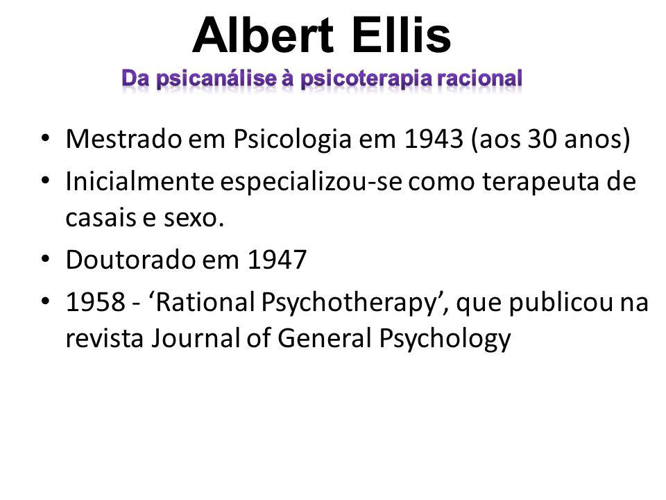 Da psicanálise à psicoterapia racional